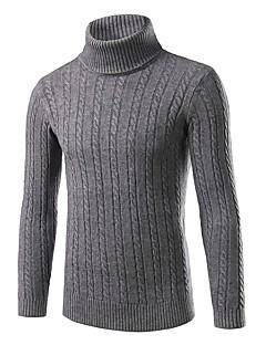 tanie Męskie swetry i swetry rozpinane-Męskie Golf Pulower Jendolity kolor Pled