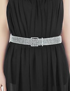 cheap Fashion Belts-Women's Vintage Rhinestone Fabric Alloy Wide Belt