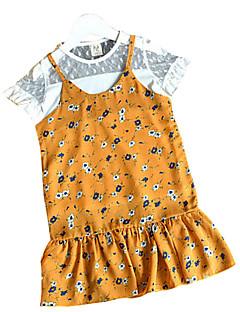 tanie Odzież dla dziewczynek-Sukienka Inne Dziewczyny Wyjściowe Kreatywne Lato Krótki rękaw Prosty Niebieski Yellow