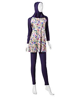 tanie Etniczne & Cultural Kostiumy-Moda Burkini Stroje kąpielowe Damskie Festiwal/Święto Kostiumy na Halloween Black Purple Drukowany Etnické