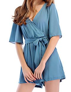 tanie Piżamy-Damskie Koszulka na ramiączkach Bielizna nocna - Sznurowany, Jendolity kolor