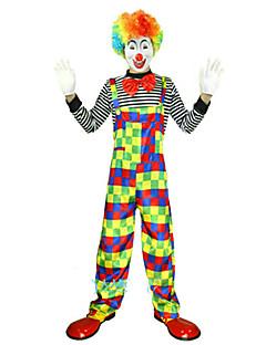 billige Halloweenkostymer-Burlesk / Klovn Sirkus Cosplay Kostumer Party-kostyme Herre Dame Karneval Festival / høytid Halloween-kostymer Regnbue Fargeblokk Fest /