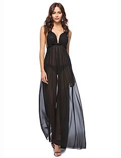 お買い得  レディースドレス-女性用 ビーチ ルーズ スウィング ドレス 純色 マキシ ホルター