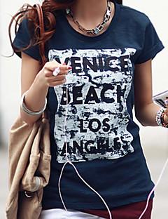 cheap Women's Tops-Women's Cotton T-shirt Print