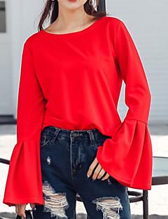 billige Skjorte-Dame-Ensfarvet Gade Skjorte