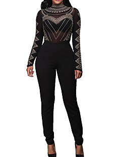 cheap Special Offers-Women's Jumpsuit - Solid Crew Neck