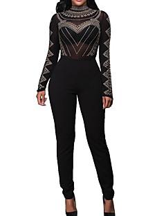 cheap Women's Fashion & Clothing-Women's Jumpsuit - Solid Crew Neck