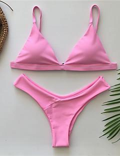 billige Bikinier og damemote 2017-Dame Grime Trekant Bikini - Åpen rygg, G-streng Ensfarget