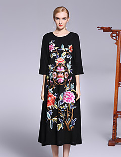 cheap Women's Fashion & Clothing-8CFAMILY Women's Sophisticated Chinoiserie Loose Dress - Floral, Flower