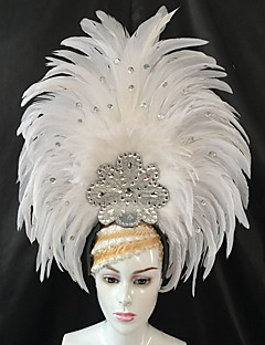 cheap Halloween & Carnival Costumes-Carnival Hats White Feather Cosplay Accessories Carnival Masquerade
