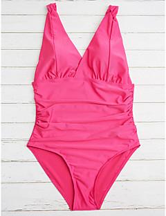 billige Bikinier og damemote 2017-Dame Store størrelser Med stropper En del - Grunnleggende, Underbukser Ensfarget