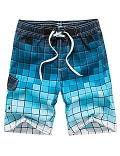 billige Herrebukser og -shorts-Herre Normal Enkel Uelastisk Rett Chinos Bukser, Medium Midje POLY Blomstret Sommer