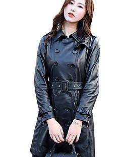cheap Women's Blazers & Jackets-Women's Vintage Leather Jacket - Solid, Rivet