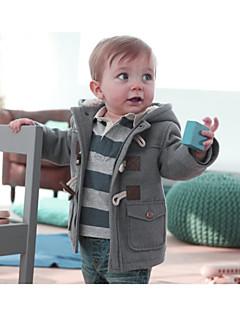billige Jakker og frakker til drenge-Børn Baby Drenge Ensfarvet Langærmet Kort Jakke og frakke