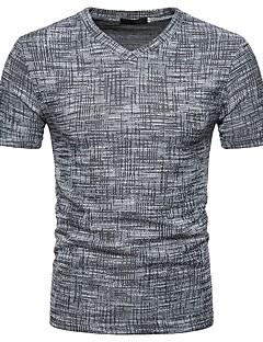 cheap Men's Tees & Tank Tops-Men's Basic / Street chic Slim T-shirt - Solid Colored V Neck / Short Sleeve / Spring / Summer