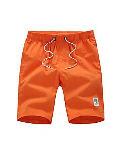 billige Herrebukser og -shorts-Herre Normal Enkel Uelastisk Rett Chinos Bukser, Medium Midje Nylon Ensfarget Sommer