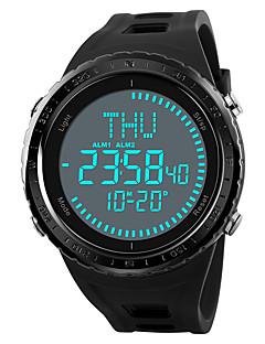 billige Digitalure-SKMEI Herre Digital Digital Watch / Militærur / Sportsur Japansk Alarm / Kronograf / Vandafvisende / Stopur / Kompas PU Bånd Afslappet