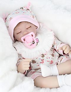 זול הזמן לטרום-סתיו הלבשה לילדים-NPK DOLL בובה מחדש תינוק 18 אִינְטשׁ סיליקון ויניל - כְּמוֹ בַּחַיִים Cute עבודת יד בטוח לשימוש ילדים Non Toxic חמוד הילד של בנות צעצועים מתנות / אינטראקציה בין הורים לילד / CE / עור טבעי / ראש דיסקט