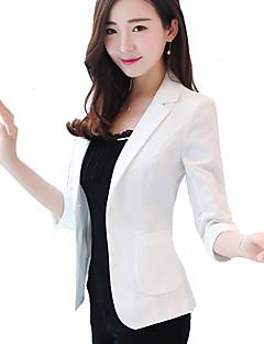 cheap -Women's Office & Career Formal Work Spring/Fall Summer Short Jacket, Solid V Neck Polyester