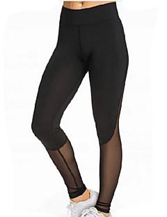 voordelige Damesbroeken-Dames Sportief Legging - Effen, Netstof Patchwork Hoge taille