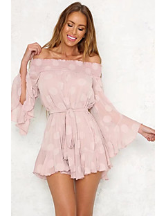 cheap Women's Dresses-Women's Butterfly Sleeve A Line Dress - Solid Color, Lace High Waist Mini Stand
