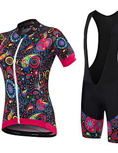 cheap Cycling Jersey & Shorts / Pants Sets-Malciklo Cycling Jersey with Bib Shorts Women's Short Sleeves Bike Clothing Suits Quick Dry Anatomic Design Breathable Sweat-Wicking