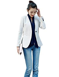 cheap -Women's Dailywear Business Office & Career Date Street Classic & Timeless Spring Fall Regular Blazer, Solid Color V Neck N/A