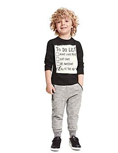 billige Tøjsæt til drenge-Drenge Tøjsæt Daglig Sport I-byen-tøj Ferie Skole Geometrisk Galakse Trykt mønster Jacquard Vævning, Bomuld Simple Vintage Afslappet