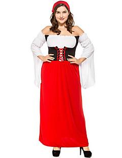 billige Voksenkostymer-Oktoberfest Halloween Karneval Oktoberfest Bursdag Festival / høytid Halloween-kostymer Rød Fargeblokk Vampyrer Dyr