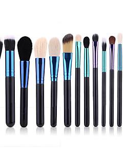 cheap Makeup Brush Sets-14pcs Permanent Makeup Kit Supplies Goat Hair Eco-friendly Professional Soft Wooden Face Nose