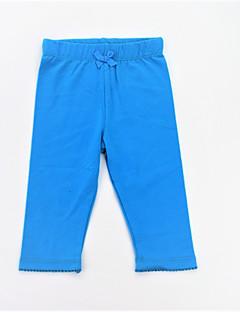 billige Bukser og leggings til piger-Pige Bukser Daglig Sport Ensfarvet, Bomuld Forår Sommer Simple Afslappet Blå Orange