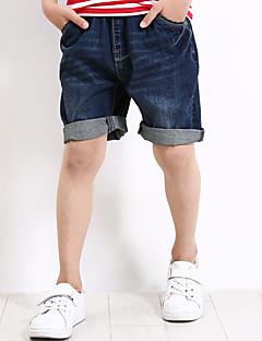 tanie Odzież dla chłopców-Szorty Bawełna Poliester Spandeks Dla chłopców Codzienny Urlop Jendolity kolor Lato Prosty Niebieski