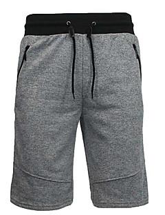 billige Herrebukser og -shorts-Herre Bomull Løstsittende Shorts Bukser - Trykt mønster, Ensfarget
