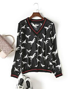 economico Top da donna-T-shirt Per donna Moda città Con stampe,Fantasia geometrica Animali