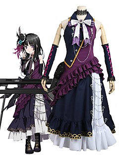 baratos Fantasias Anime-Inspirado por BanG Dream Fantasias Anime Fantasias de Cosplay Ternos de Cosplay Outro Sem Manga Peitilho / Vestido / Mais Acessórios Para Homens / Mulheres Trajes da Noite das Bruxas