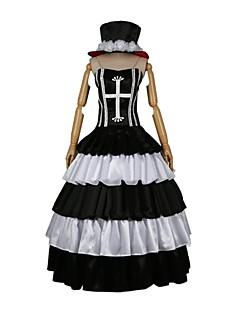 billige Anime Cosplay-Inspireret af En del Perona Cosplay Anime Cosplay Kostumer Cosplay Kostumer Anden Uden ærmer Kjole Hat Til Herre Dame