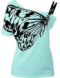 billige Overdele til damer-Skulderfri Dame Ferie T-shirt
