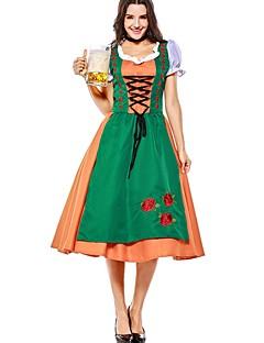 billige Halloweenkostymer-Trollmann / heks Oktoberfest Cosplay Kostumer Halloween Karneval Oktoberfest Festival / høytid Halloween-kostymer Drakter Grønn Lapper Vampyrer Cosplay Halloween