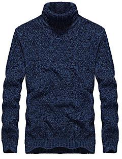 tanie Męskie swetry i swetry rozpinane-Męskie Prosty Na co dzień Rozpinany Jendolity kolor