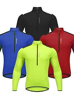 billige Sykkelklær-WOSAWE Langermet Sykkeljersey - Svart Rød Grønn Blå Sykkel