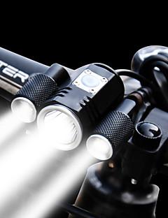 Χαμηλού Κόστους Ποδηλασία-Μπροστινό φως ποδηλάτου LED Ποδηλασία Αδιάβροχη, Ρυθμιζόμενο, Ευρεία Γωνία Επαναφορτιζόμενη Μπαταρία 1900 lm Ενσωματωμένη μπαταρία Li-Battery / Επαναφορτιζόμενη Ισχύς Άσπρο Ποδηλασία