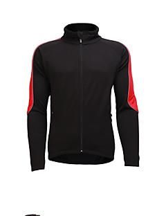 billige Sykkeljerseys-Jaggad Herre Langermet Sykkeljersey - Rød Helfarge Sykkel Jersey, Pustende Nylon Elastisk