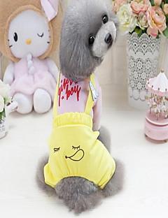 billiga Hundkläder-Hund Tröja Hundkläder Ord / fras Svart Grön Rosa Bomull/Polyester Chinlon Kostym För husdjur One Piece Ledigt/vardag