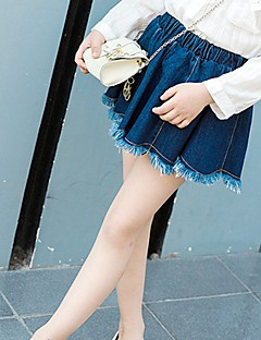 cheap Girls' Clothing-Girls' Daily Solid Skirt, Special Leather Types Spring Fall Sexy Blue