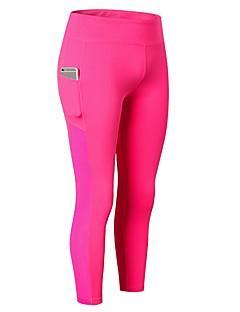 billige Løbetøj-Dame Løbeshorts - Rose Rød, Blå, Grå Sport Ensfarvet 3/4 Tights / Leggins Træning & Fitness Sportstøj Åndbarhed Elastisk