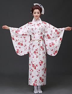tanie Etniczne & Cultural Kostiumy-Cosplay Sukienki / Kimono Damskie Festiwal/Święto Kostiumy na Halloween niebieski / Różowy / Czerwony Kwiatowy / roślinny Kimona / Tradycyjny / Classic