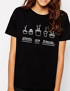 billige T-shirt-Dame-Bogstaver Gade T-shirt