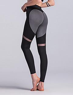 billiga Träning-, jogging- och yogakläder-Dam Lappverk Yoga byxor - Svart, Grå sporter Färgblock, Hjärta Leggings Löpning, Fitness, Träna Sportkläder Mjuk, Butt Lift, Magkontroll Elastisk Skinny / Vinter