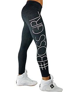 billige Løbetøj-Yogabukser Tights Trener Yoga & Danse Sko Hurtig Tørre Fitness Medium Talje Elastisk Sportstøj Dame Yoga Træning & Fitness