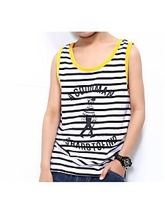 billige Tøjsæt til drenge-Drenge Stribet Tøjsæt, Polyester Forår Sommer Uden ærmer Hvid